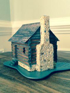 Miniature Log Cabin 1/4 Scale CIRCA 1825 Louisiana Territory/miniature  Collectible/