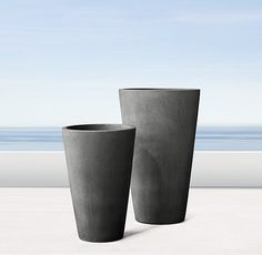 COMES IN WHITE, extra large $146  Sarno Round Planters