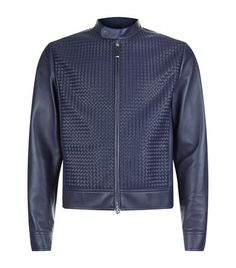 STEFANO RICCI Woven Panel Leather Jacket. #stefanoricci #cloth #