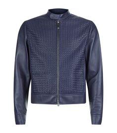 STEFANO RICCI Woven Panel Leather Jacket. #stefanoricci #cloth #
