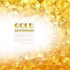 Golden Abstract Polygonal Triangular Background Illustrator