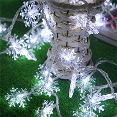 BLOOMWIN 10M Guirlandes Lumineuses Flocon de neige Led Décoratifs Lumières pour Intérieur/Extérieur/Jardin/Arbre de Noël/Mariage/Fête et…