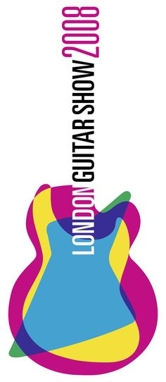 London Guitar Show 2008 (The blue, yellow and pink is a triad color scheme and has a hue of 117 degrees according to The Color Scheme Designer.This could also be an example of an additive color model.)