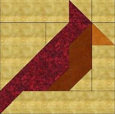 Cardinal block pattern and quilt pattern free