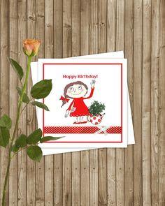 Ann & Arthur True Friends  Hand Drawn Birthday Cards by AdesignFor