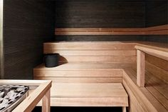 Sauna with dark walls makes a nice mystic atmosphere Cheap Interior Wall Paneling, House Paint Interior, Exterior Design, Interior And Exterior, House Painting Cost, Finnish Sauna, Saunas, Dark Walls, Design Your Home
