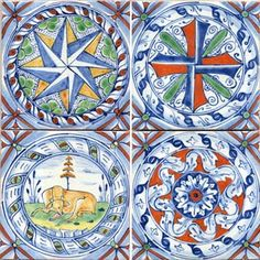17th Century Italian Tile Murals Spanish Victorian Decorative Ceramic Tiles Pinterest And