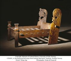 territorioVIKINGO: Recreacionismo: Cama de Oseberg