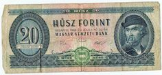 20 Husz Forint Hungary 1969 Bank Note Paper Money 169g