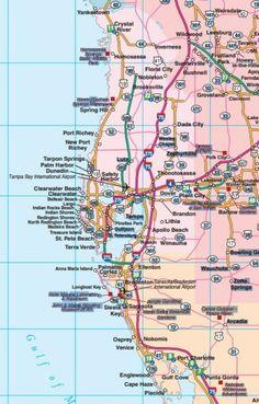 Map Of West Coast Of Florida : coast, florida, FLORIDA, STATE, Ideas, Florida, State