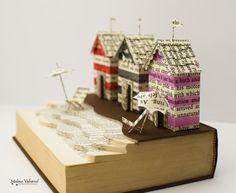 Una giornata al mare libro scultura alterato libro
