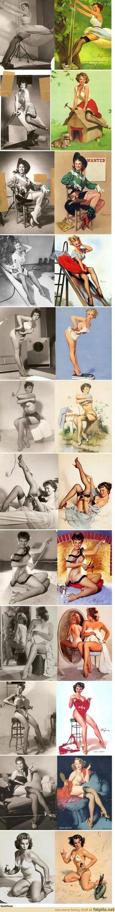 Photoshop before photoshop  Love Gil Elvgren's pin-ups & I've seen a couple of these photos before but not all these. Very cool.