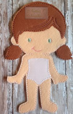 Felt Laura Doll by NettiesNeedlesToo on Etsy