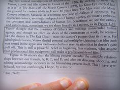 """""""This is a powerful belief in beginning film students, who assume that professional film equipment will make a professional-level film"""" from Directing the Documentary by Michael Rabiger, the book is big, but really is worth its weight in gold! BIME a Bullet to Bite on: Videography, Volunteering, Making Mistakes and Maintaining Momentum http://www.somethingtodowithfilm.com/2014/10/BIME-videography.html"""