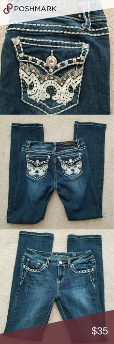 L.A. Idol Bootcut Jeans Like new L.A. Idol bootcut jeans size 9 (waist:31 length:34) In new condition and only worn a few times. No rips, tears, or stains. L.A. Idol Jeans Boot Cut