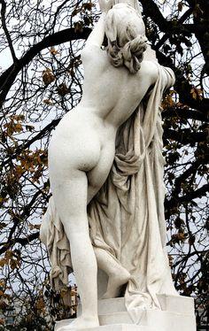 Aimé Millet, detail of marble composition at Jardin des Tuileries, Paris