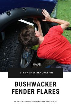 """Upgrading our overland rig with """"do it yourself"""" installation of Bushwacker Fender Flares on a 2015 Ram Do It Yourself Camper, Slide In Truck Campers, Roof Hatch, Truck Paint, All Terrain Tyres, Camper Renovation, Ram Trucks, Diy Camper, Fender Flares"""