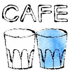 無料イラストカフェ カフェのおしゃれな手描きイラスト Royalty Free (RF) cafe Clipart カフェイラスト手書き
