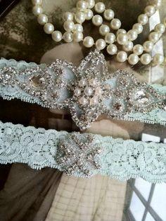 Wedding+Garter++Garters++Bridal+GarterMint+by+thehoneybeeshop