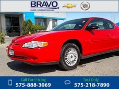 2000 Chevrolet Chevy Monte Carlo LS 72k miles Call for Price 72379 miles 575-888-3069 Transmission: Automatic  #Chevrolet #Monte Carlo #used #cars #BravoChevroletCadillac #LasCruces #NM #tapcars