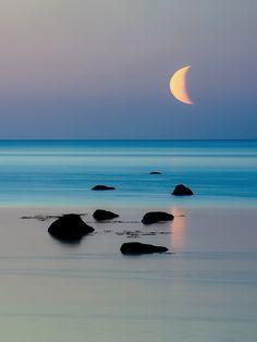 magicalnaturetour:  Moonrise by Vitaly Z