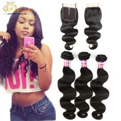 67.82$  Watch here - http://alip3z.worldwells.pw/go.php?t=32722979006 - 4x4 Lace Closure With bundles peruvian Virgin Hair With Closure 3 Bundles Peruvian Body Wave With Closure Human Hair Soft  67.82$