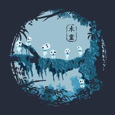 A Princess Mononoke t-shirt by theduc. KODAMAS.