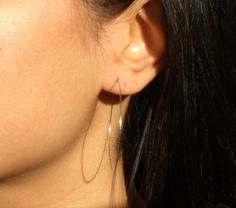 Super thin hoop earrings