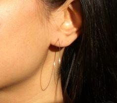 Super thin hoop earrings