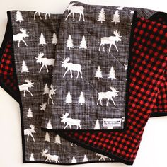 Just listed!! Woodland nursery perfection! And the back is flannel!