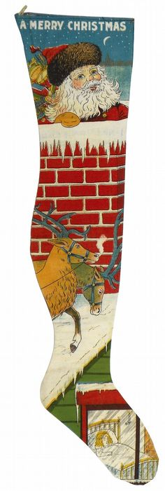 Antique commercial Christmas Stocking.