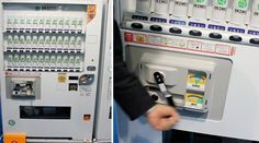 Japanese Emergency Hand-Crank Vending Machine