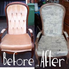 Chair upholstery!