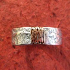 Bague pour homme, artisanale, fait main, aspect rustique, anneau ouvert, idée cadeau de noël pour homme