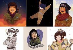 Star Wars fan art for Rose and Kelly Marie Tran