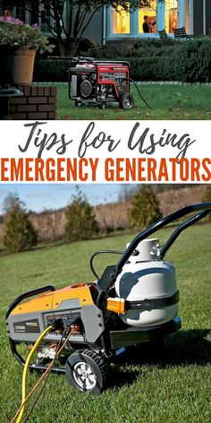 """Tips for Using Emergency Generators — A backup generator can be a godsend during power outages, but making sure you're prepared takes more than just buying one and """"waiting for a rainy day. Apocalypse Survival, Survival Gear, Survival Skills, Zombie Apocalypse, Best Portable Generator, Emergency Generator, Doomsday Prepping, Disaster Preparedness, Homestead Survival"""
