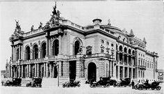 Teatro Municipal de São Paulo, déc. 1910.