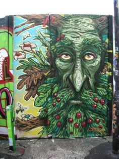 Graffiti by Uri Green - In Barceby Uri Green in Barcelona, Spain. Ent? Tree-Beard?!