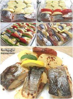 Fırında Levrek Tarifi – Atıştırmalıklar – The Most Practical and Easy Recipes Shellfish Recipes, Meat Recipes, Seafood Recipes, Baked Sea Bass, Baked Fish, Food Articles, Fresh Fruits And Vegetables, Turkish Recipes, Fish Dishes