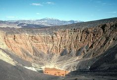 Death Valley National Park, California and NevadaDeath Valley National Park's Ubehebe Crater, the result of a volcanic steam explosion, stretches 600 feet from bottom to top.