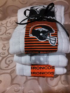 3 Pack Denver Broncos Baby Burp Cloths by RachelSewCrazy on Etsy, $13.00