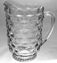 American Whitehall by Indiana Glass...clear glass pitcher