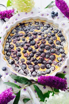 Norwegische Blaubeer Tarte, blåbær kake
