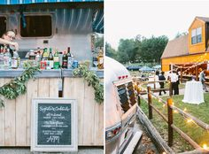 airstream food truck, wedding/reception at a campground