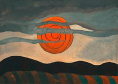 Oh Lord Give your servant an understanding heart. Red Sun, 1935, Arthur Dove
