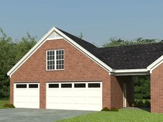 3 Car Garage with Loft, 006G-0047