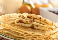 I'm checking out a delicious recipe for Make-Ahead Freezer Crepes from Kroger! Homemade Crepes, Fry S, American Pancakes, Crepe Recipes, Spinach And Feta, Tonne, Food Categories, Savoury Dishes, Apple Pie