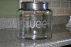 Nursery Rhymes and Sweet Times: Glass Etching Tutorial-A Sweet Cookie Jar