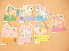 Rare vintage Hasbro 1986 My Little Pony lot 7 stickers From ARGENTINA