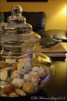 Seashells...a simple way to display your treasures.